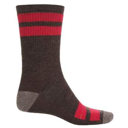 SmartWool Striped Hike Medium Socks - Merino Wool, Crew (For Men) in Chestnut - 2nds