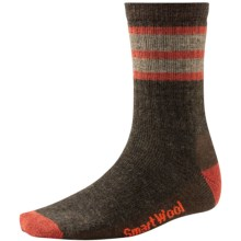 SmartWool Striped Hike Socks - Merino Wool, Crew (For Men and Women) in Chestnut/Moab Rust - Closeouts