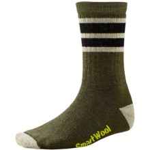 SmartWool Striped Hike Socks - Merino Wool, Crew (For Men and Women) in Loden/Natural - Closeouts