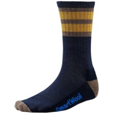 SmartWool Striped Hike Socks - Merino Wool, Crew (For Men and Women) in Navy/Sunglow - 2nds