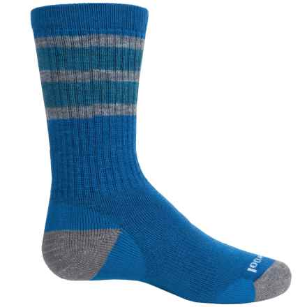 SmartWool Striped Hiking Socks - Merino Wool, Crew (For Little and Big Kids) in Bright Blue - Closeouts