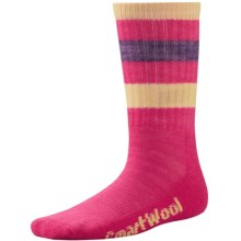 SmartWool Striped Hiking Socks - Merino Wool, Crew (For Little and Big Kids) in Bright Pink - Closeouts