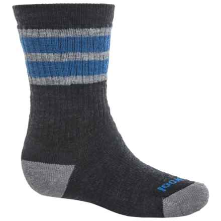 SmartWool Striped Hiking Socks - Merino Wool, Crew (For Little and Big Kids) in Charcoal - Closeouts