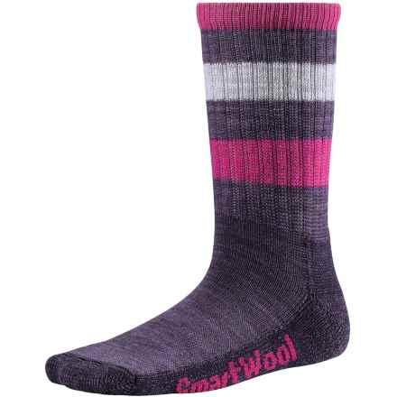 SmartWool Striped Hiking Socks - Merino Wool, Crew (For Little and Big Kids) in Desert Purple - Closeouts