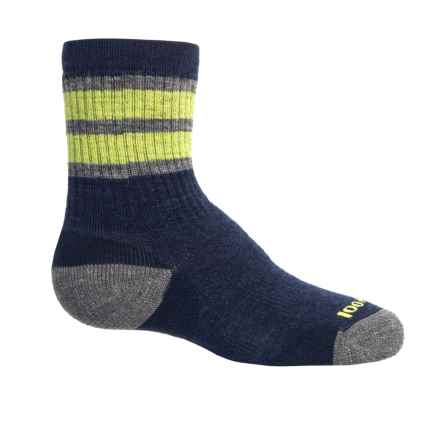 SmartWool Striped Hiking Socks - Merino Wool, Crew (For Little and Big Kids) in Navy - Closeouts