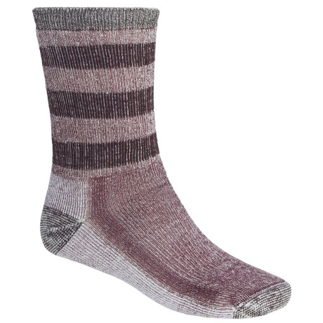 SmartWool Striped Hiking Socks - Midweight, Merino Wool, Crew (For Men and Women) in Mahogany/Chestnut