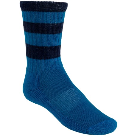 SmartWool Striped Light Hiking Socks - Merino Wool, Crew (For Kids) in Arctic Blue Heather/Navy