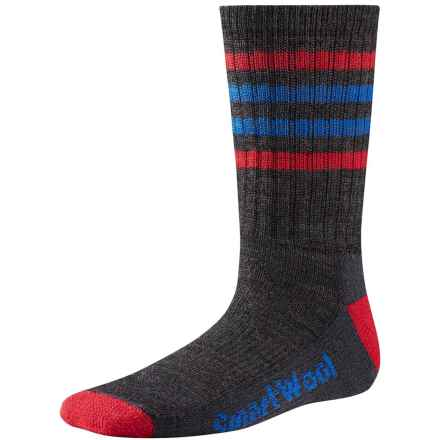 SmartWool Striped Light Hiking Socks - Merino Wool, Crew (For Little and Big Kids) in Charcoal - Closeouts