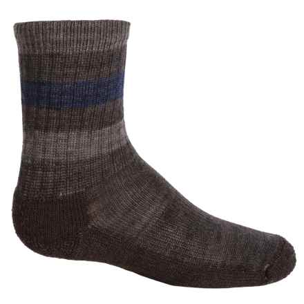 SmartWool Striped Light Hiking Socks - Merino Wool, Crew (For Little and Big Kids) in Chestnut - Closeouts