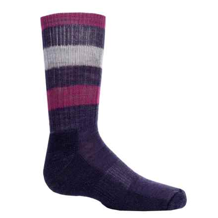 SmartWool Striped Light Hiking Socks - Merino Wool, Crew (For Little and Big Kids) in Desert Purple - Closeouts