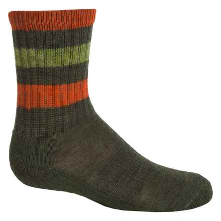 SmartWool Striped Light Hiking Socks - Merino Wool, Crew (For Little and Big Kids) in Loden - Closeouts
