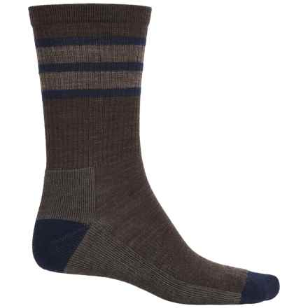 SmartWool Striped Lightweight Hike Socks - Merino Wool, Crew (For Men and Women) in Chestnut - Closeouts
