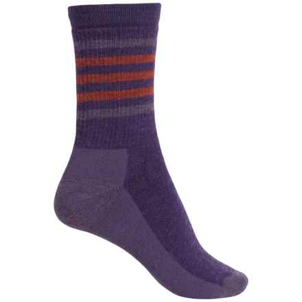 SmartWool Striped Midweight Hike Socks - Merino Wool, Crew (For Women) in Mountain Purple - Closeouts