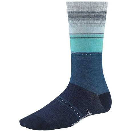 SmartWool Sulawesi Stripe Socks - Lightweight, Merino Wool (For Men and Women) in Deep Sea Heather