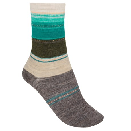 SmartWool Sulawesi Stripe Socks - Lightweight, Merino Wool (For Men and Women) in Oatmeal Heather