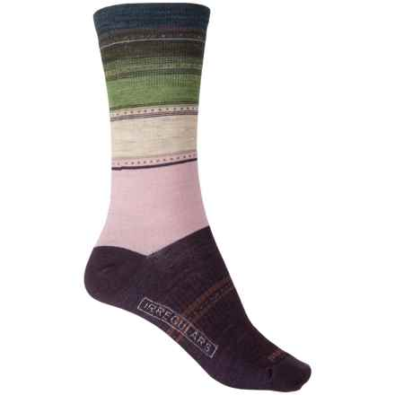 SmartWool Sulawesi Stripe Socks - Merino Wool, Crew (For Women) in Bordeaux Heather - 2nds