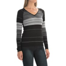 SmartWool Sulawesi Sweater - Merino Wool, V-Neck (For Women) in Black - Closeouts