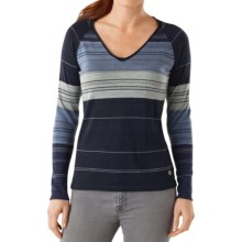 SmartWool Sulawesi Sweater - Merino Wool, V-Neck (For Women) in Deep Navy Heather - Closeouts