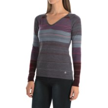 SmartWool Sulawesi Sweater - Merino Wool, V-Neck (For Women) in Medium Grey Heather - Closeouts