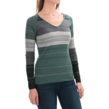 SmartWool Sulawesi Sweater - Merino Wool, V-Neck (For Women) in Sea Pine Heather - Closeouts