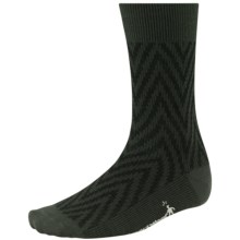 SmartWool Summit Chevron Socks - Merino Wool, Crew (For Men and Women) in Forest - Closeouts