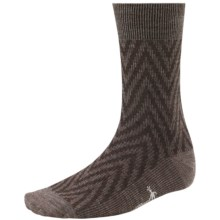 SmartWool Summit Chevron Socks - Merino Wool, Crew (For Men and Women) in Taupe Heather - 2nds