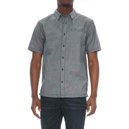 SmartWool Summit County Chambray Shirt - Merino Wool, Organic Cotton, Short Sleeve (For Men) in Dark Blue - Closeouts