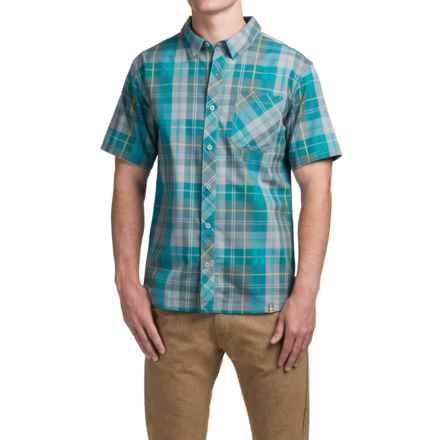 SmartWool Summit County Plaid Shirt - Merino Wool-Organic Cotton, Short Sleeve (For Men) in Capri - Closeouts