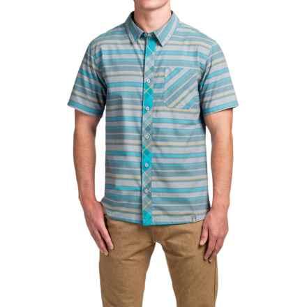 SmartWool Summit County Stripe Shirt - Merino Wool-Organic Cotton, Short Sleeve (For Men) in Capri - Closeouts