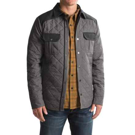 SmartWool Summit Quilted Shirt Jacket - Merino Wool, Insulated (For Men) in Charcoal Heather - Closeouts