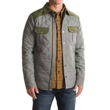 SmartWool Summit Quilted Shirt Jacket - Merino Wool, Insulated (For Men) in Light Grey Heather - Closeouts
