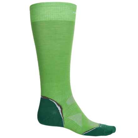 SmartWool Surefoot PhD Ski Socks - Merino Wool, Over the Calf (For Men and Women) in Lime - 2nds
