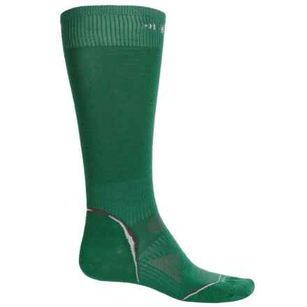 SmartWool Surefoot PhD Ski Socks - Merino Wool, Ultralight (For Men and Women) in Grasshopper - 2nds