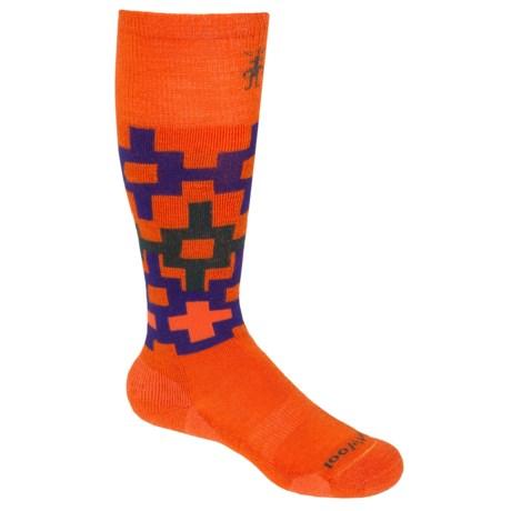 SmartWool SW110 Snowboard Socks - Merino Wool, Over-the-Calf (For Boys) in Orange
