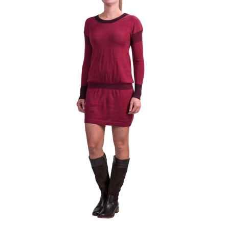 SmartWool Tabaretta Sweater Dress - Merino Wool, Long Sleeve (For Women) in Aubergine - Closeouts