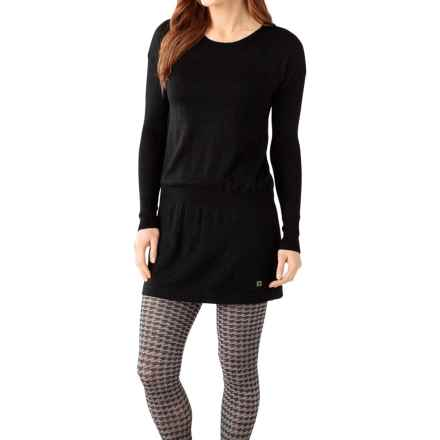 SmartWool Tabaretta Sweater Dress - Merino Wool, Long Sleeve (For Women) in Black - Closeouts