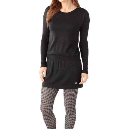 SmartWool Tabaretta Sweater Dress - Merino Wool, Long Sleeve (For Women) in Charcoal Heather - Closeouts