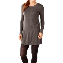 SmartWool Tabaretta Sweater Dress - Merino Wool, Long Sleeve (For Women) in Chocolate Heather - Closeouts