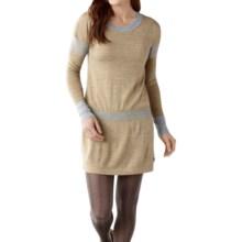 SmartWool Tabaretta Sweater Dress - Merino Wool, Long Sleeve (For Women) in Sunglow Heather - Closeouts
