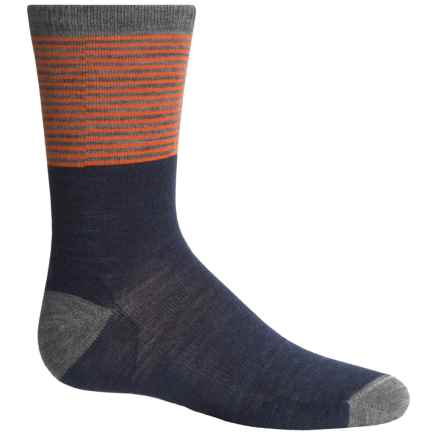 SmartWool Tailored Stripe Socks - Merino Wool, Crew (For Big Boys) in Deep Navy Heather - Closeouts