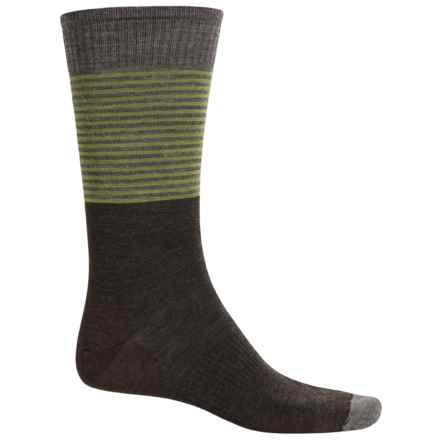 SmartWool Tailored Stripe Socks - Merino Wool, Crew (For Men) in Chestnut - Closeouts