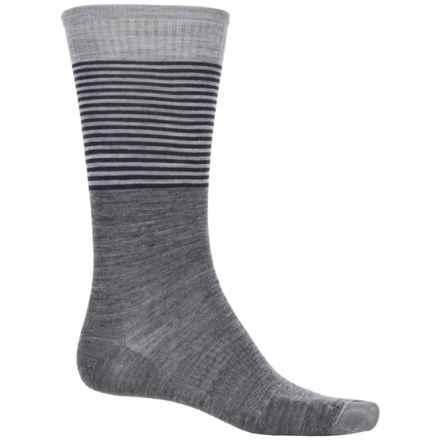 SmartWool Tailored Stripe Socks - Merino Wool, Crew (For Men) in Medium Gray - 2nds