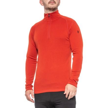 d57eee40313874 SmartWool Tandoori Orange Merino 250 Base Layer Top - Merino Wool, Zip Neck,  Long