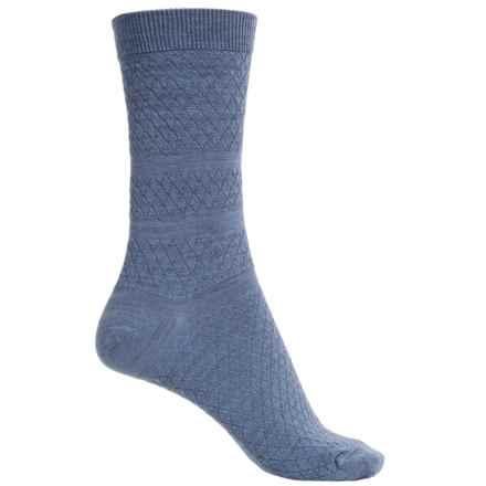 SmartWool Texture Socks - Merino Wool, Crew (For Women) in Blue Steel Heather - Closeouts
