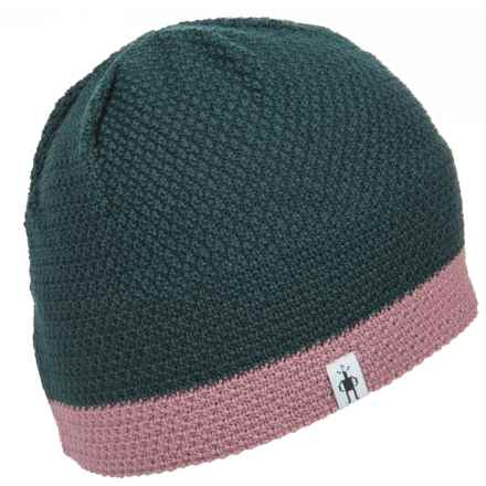 SmartWool Textured Knit Lid - Merino Wool Blend (For Men and Women) in Lochness Heather - Closeouts