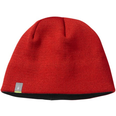 SmartWool The Lid Beanie Hat - Merino Wool (For Men and Women) in Bright Red