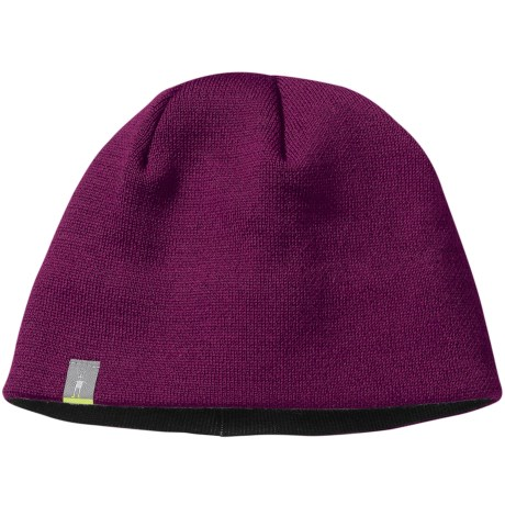 SmartWool The Lid Beanie Hat - Merino Wool (For Men and Women) in Dark Berry