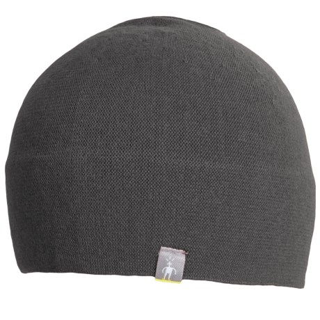 SmartWool The Lid Beanie Hat - Merino Wool (For Men and Women) in Medium Grey