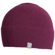 SmartWool The Lid Beanie Hat - Merino Wool (For Men and Women) in Wine Heather - Closeouts