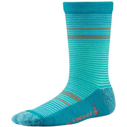 SmartWool Thinscape Stripe Socks - Merino Wool, Crew (For Little and Big Girls) in Clearwater - Closeouts